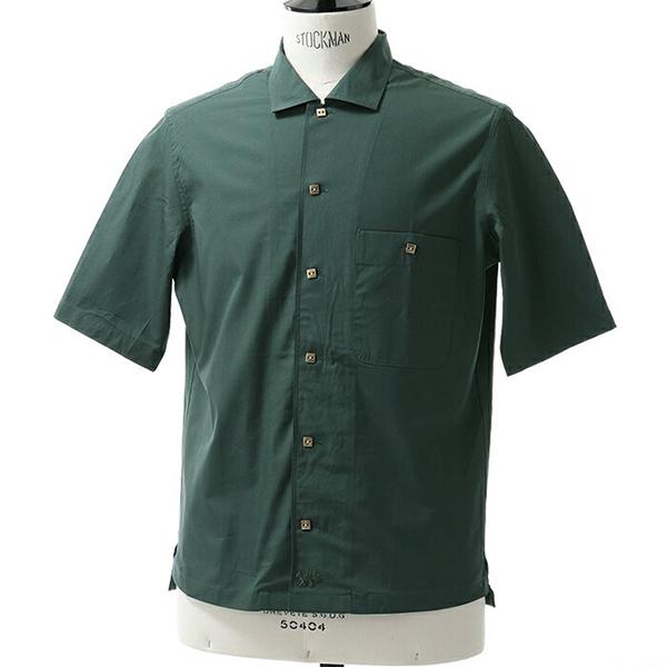 MAISON KITSUNE メゾンキツネ BM00401AT 1001 半袖シャツ カジュアルシャツ カラーDARKGREEN メンズ