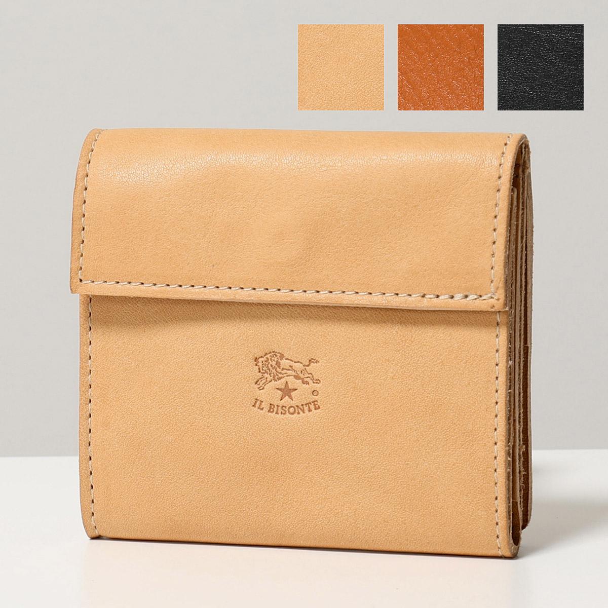 ILBISONTE イルビゾンテ C0455 P レザー 二つ折り財布 スモール ミニ財布 小銭入れあり 54_1_411465 カラー5色 ユニセックス