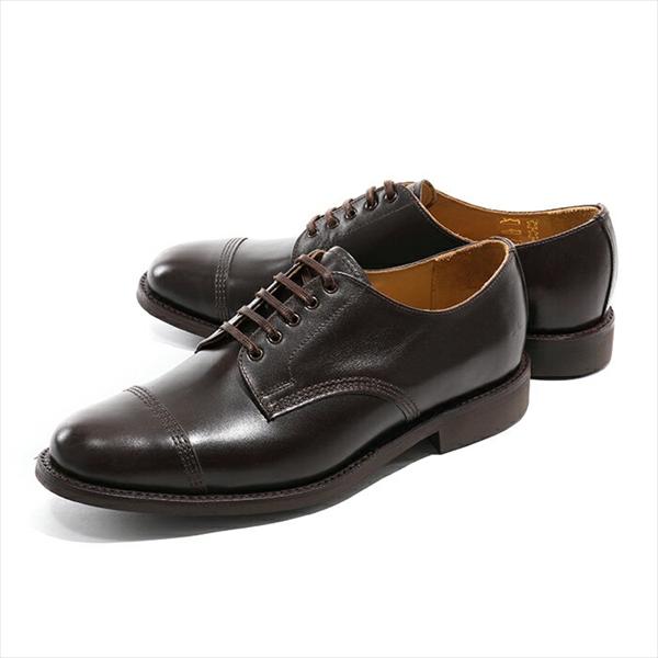 Sanders サンダース 1128TDC Military Derby Shoe Calf ドレスシューズ 革靴 オックスフォード ストレートチップ カラーDarkBrown メンズ【訳有】