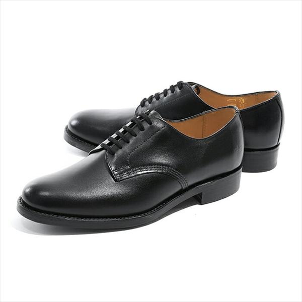 プレーントゥ オックスフォード カラーBlack Calf Shoe メンズ【訳有】 サンダース 革靴 Sanders 1891BC Military ドレスシューズ Officer