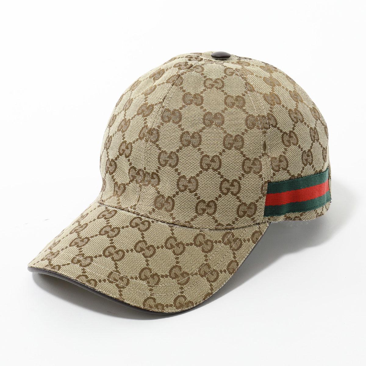 GUCCI グッチ 200035 KQWBG オリジナルGGキャンバス ベースボールキャップ 帽子 ウェブライン カラー9791/BEIGE ユニセックス メンズ
