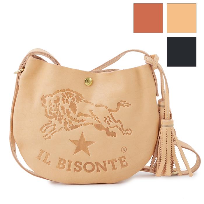 IL BISONTE イルビゾンテ A2665 レザー ラウンド ショルダーバッグ ポシェット カラー3色 レディース