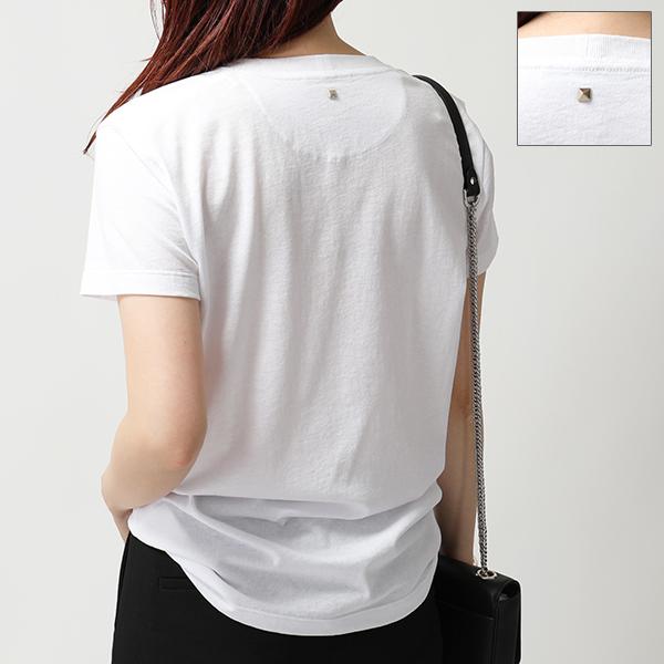 VALENTINO ヴァレンティノ PV3MG10I46M ロックスタッズ装飾 クルーネック 半袖 Tシャツ カラー0BO/ホワイト メンズ
