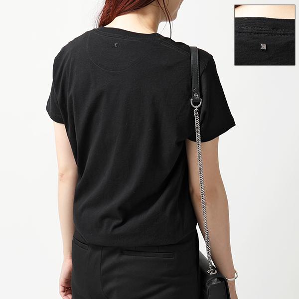 VALENTINO ヴァレンティノ PV3MG10I46M ロックスタッズ装飾 クルーネック 半袖 Tシャツ 0NO/ブラック レディース
