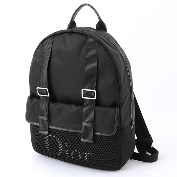 Dior Homme ディオールオム 1GRBA067 XXP ナイロン メッシュ バックパック リュック デイパック 手提げバッグ カラーH03E/ブラック メンズ