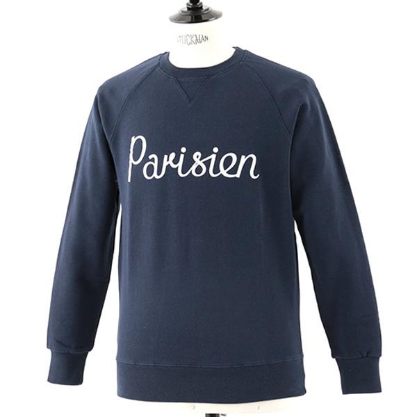 MAISON KITSUNE メゾンキツネ 03949 AM00301AT1503 PARISIENNE 長袖Tシャツ スウェット トレーナー カットソー カラーNAVY メンズ