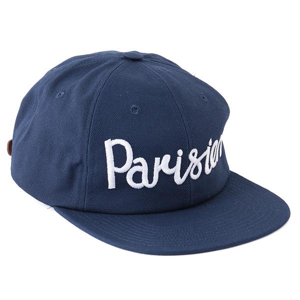 MAISON KITSUNE メゾンキツネ 03987 AU06103AT7100 刺繍 キャップ 帽子 ベースボールキャップ カラーNAVY メンズ