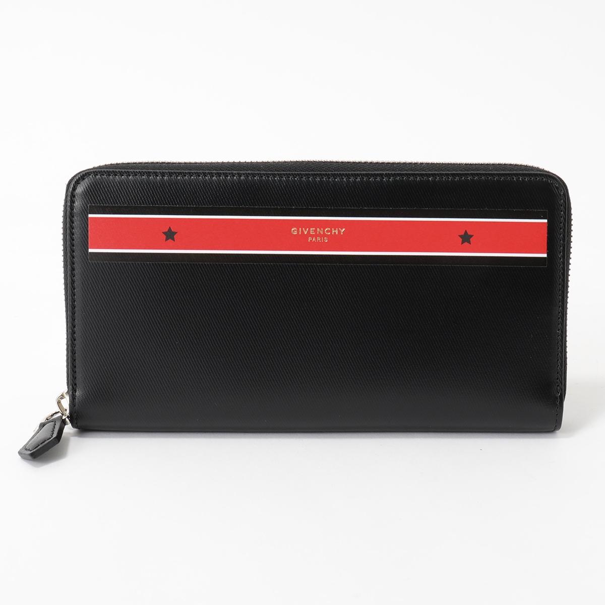 GIVENCHY ジバンシィ BK600GK03P ZIPPED WALLET ラウンドファスナー 長財布 スターライン カラー009/BLACK-RED メンズ