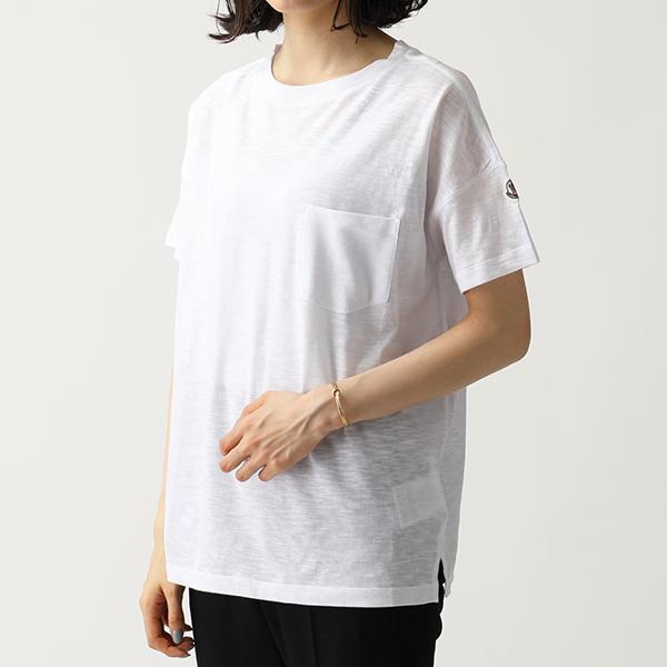 MONCLER モンクレール 8081900 82857 胸ポケット付き 半袖 Tシャツ カットソー クルーネック ポケT カラー001 レディース