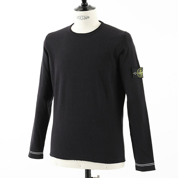 STONE ISLAND ストーンアイランド 6815 569B9 KNIT クルーネック 長袖Tシャツ カットソー コットン ニット ニットソー カラーV0020 メンズ