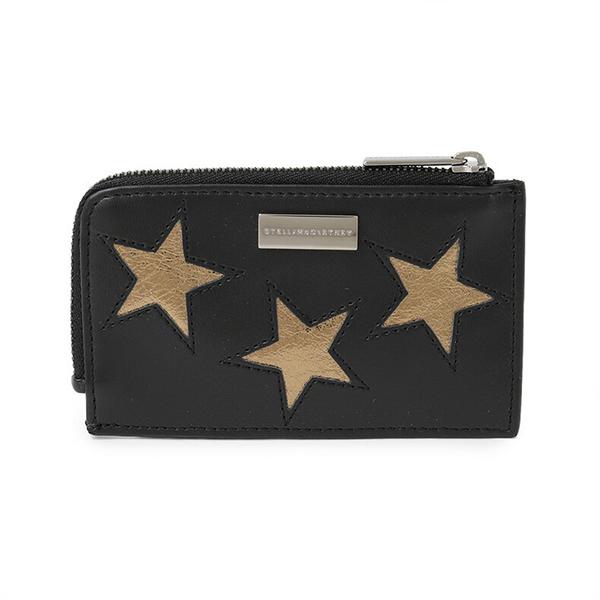 STELLA McCARTNEY ステラマッカートニー 489033 W8211 CARD HOLDER カードケース コインケース 小銭入れ 定期入れ ミニ財布 カラー1000/ブラック×ゴールド