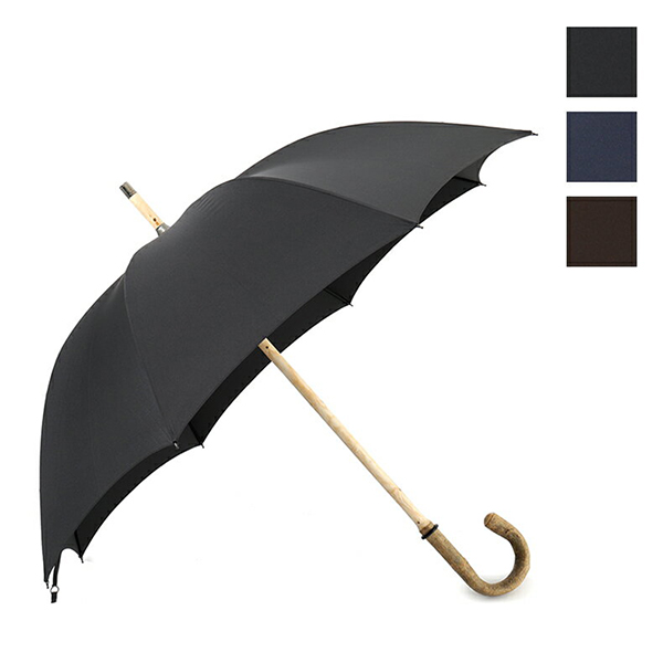 FOX UMBRELLAS フォックスアンブレラ RS1 ASH SOLID カラー3色 アッシュ トネリコ ソリッド ハンドル 雨傘 パラソル 雨具 ケース付き メンズ