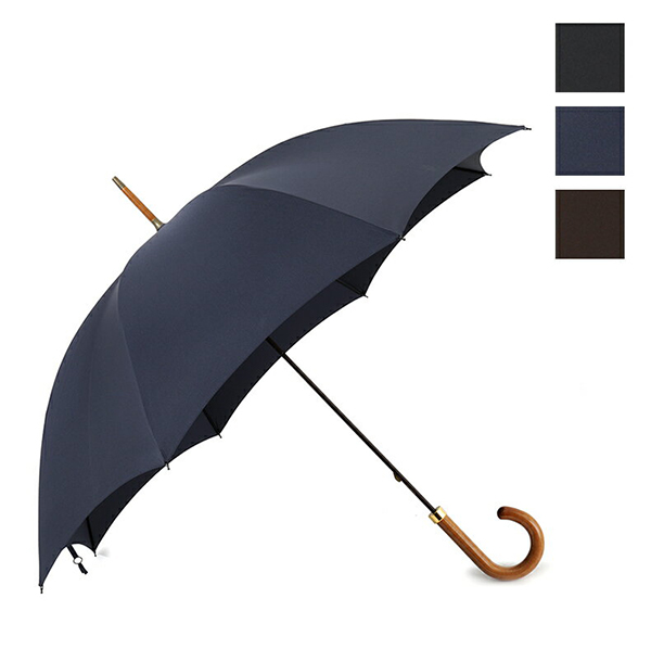 FOX UMBRELLAS フォックスアンブレラ GT2 MEDIUM GLOSS 艶木目ミディアムポリッシュ ハンドル 雨傘 パラソル 雨具 カラー3色 メンズ