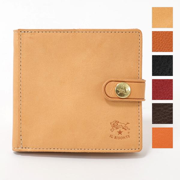ILBISONTE イルビゾンテ C0508 P VACCHETTA レザー 二つ折り財布 スモール財布 ミニ財布 カラー4色 メンズ