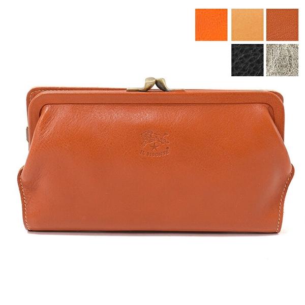 bfdfa7f3bb38 ILBISONTE イルビゾンテ C0671 P 二つ折り長財布 がま口 カラー5色 レディース レザー-レディース財布