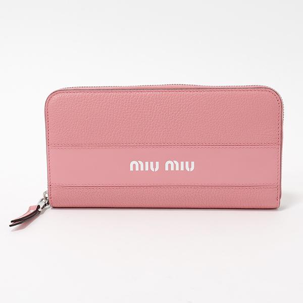 miumiu ミュウミュウ 5ML506 2BU4 F0028 ラウンドファスナー 長財布 カラーROSA レディース