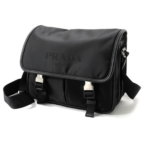 PRADA プラダ 2VD769 064 F0002 TESSUTO+SAFFIANO ナイロン ショルダーバッグ カラーNERO メンズ