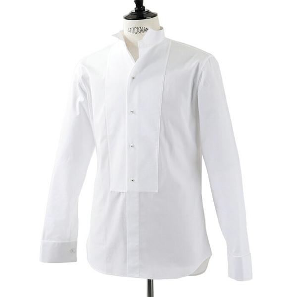Dior ディオール 733C520Z1581 003 CHEMISE CL COL CASSE PL ウイングカラー 長袖シャツ ジュエリーボタン スティッフブザム カラー000/Blanc メンズ