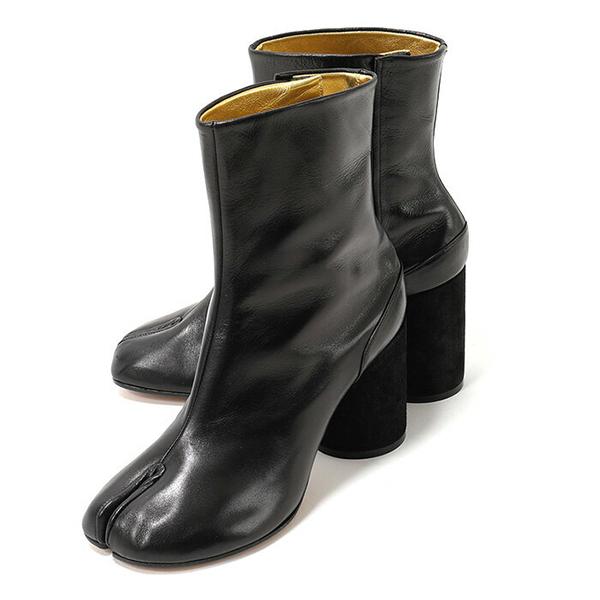 Maison Margiela 22 メゾンマルジェラ S39WU0107 SY1201 Tabi ankle boots 足袋 タビブーツ アンクルブーツ ベルベットヒール 円筒形 チャンキー カラー900 レディース