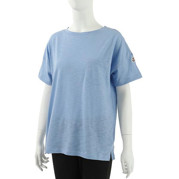 MONCLER モンクレール 8081900 82857 胸ポケット付き 半袖 Tシャツ カットソー クルーネック ポケT カラー70C レディース