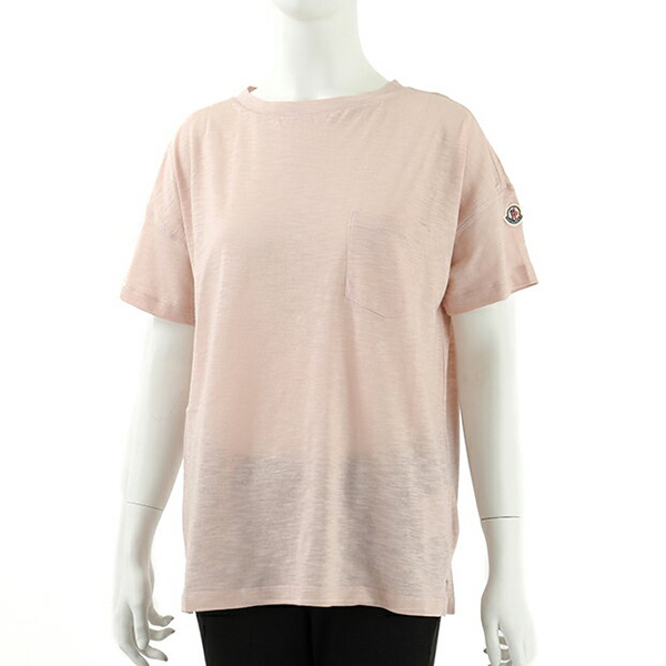 MONCLER モンクレール 8081900 82857 胸ポケット付き 半袖 Tシャツ カットソー クルーネック ポケT カラー529 レディース