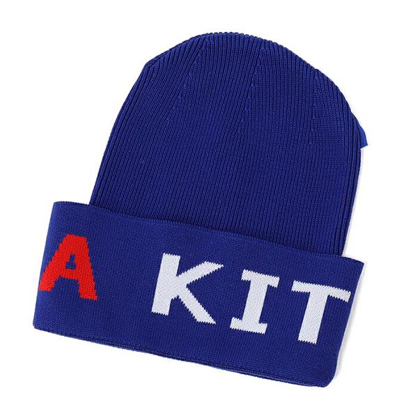 ADER ERROR アーダーエラー MAISON KITSUNE メゾンキツネ コラボ SPAEU901 ニットキャップ ニット帽 帽子 ユニセックス カラーBLUE メンズ レディース