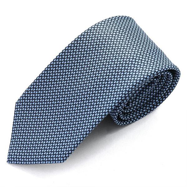 HERMES エルメス CRAVATE HEAVY TWILL フランス製 シルク ネクタイ 柄 ブランドBOX ACCORDEZ MOI カラーMARINE-AZUR