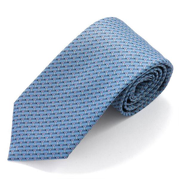 HERMES エルメス CRAVATE HEAVY TWILL フランス製 シルク ネクタイ 柄 ブランドBOX TAMPON H カラーBLUEMOYEN-BLUELAVANDEFONCE