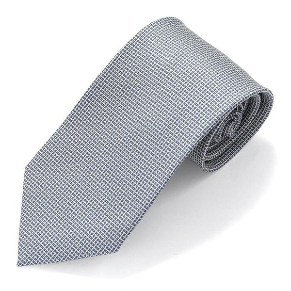 HERMES エルメス CRAVATE TWILL フランス製 シルク ネクタイ 柄 ブランドBOX CANEVAS カラーBLEUMOYEN/ACIER