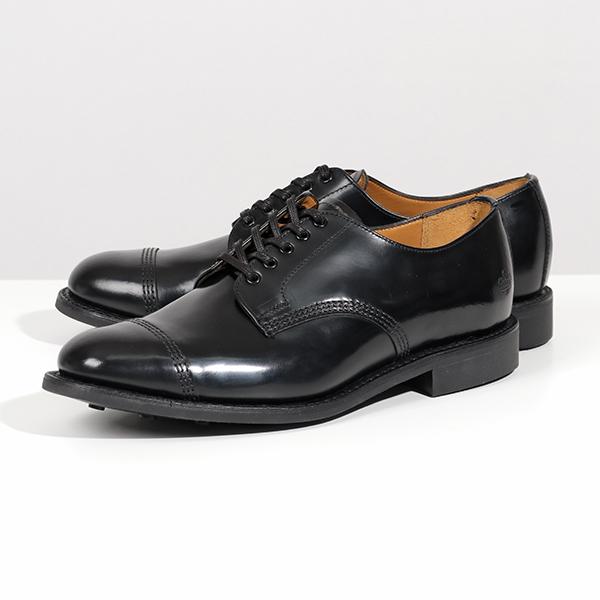 Sanders サンダース 1128B Military Derby Shoe Polishing Leather レザー ドレスシューズ 革靴 オックスフォード ストレートチップ Black メンズ