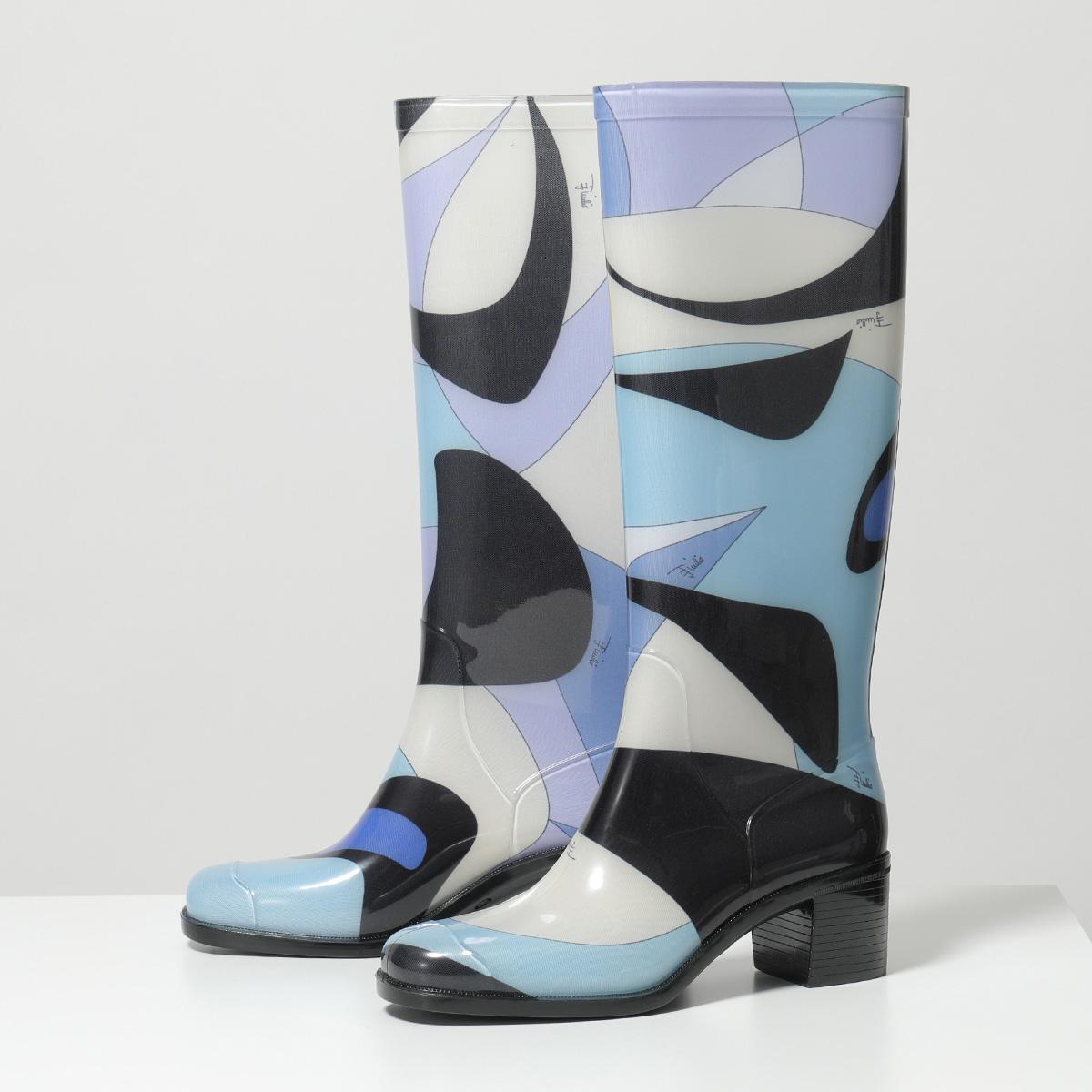 【35%OFF】 EMILIO PUCCI エミリオプッチ 9UCE45 9UX18 Alex Print Rubber Boots ラバー レインブーツ ロングブーツ A98 靴 レディース, 便利グッズのお店 AQSHOP 8433caaf