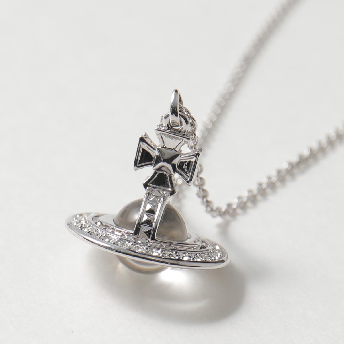 VivienneWestwood ヴィヴィアンウエストウッド 63020113 W110 PINA SMALL ORB ネックレス アクセサリー ペンダント シルバー RHODIUM-Crystal レディース