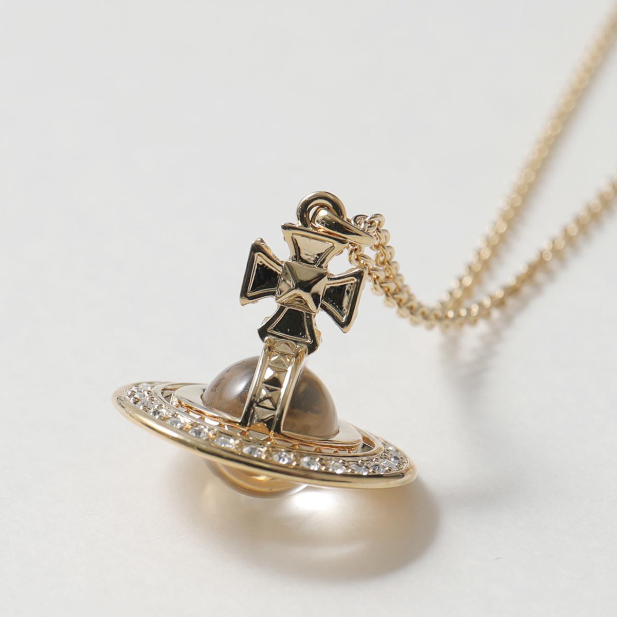 VivienneWestwood ヴィヴィアンウエストウッド 63020113 R108 PINA SMALL ORB ネックレス アクセサリー ペンダント ゴールド GOLD-Crystal レディース