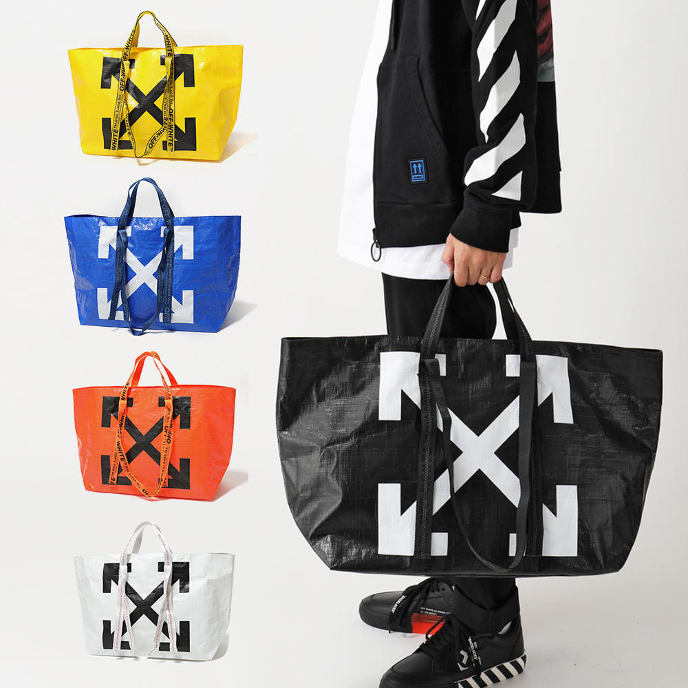 OFF-WHITE オフホワイト VIRGIL ABLOH OWNA094 カラー5色 NEW COMMERCIAL TOTE ショッパー トートバッグ 鞄 メンズ