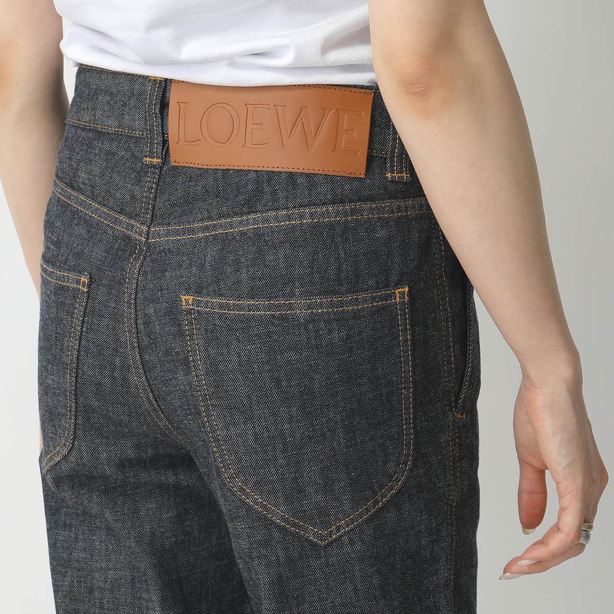 LOEWE ロエベ S2102190IB Denim Trousers デニム アンクル丈 ハイライズ 5820/INDIGO レディース
