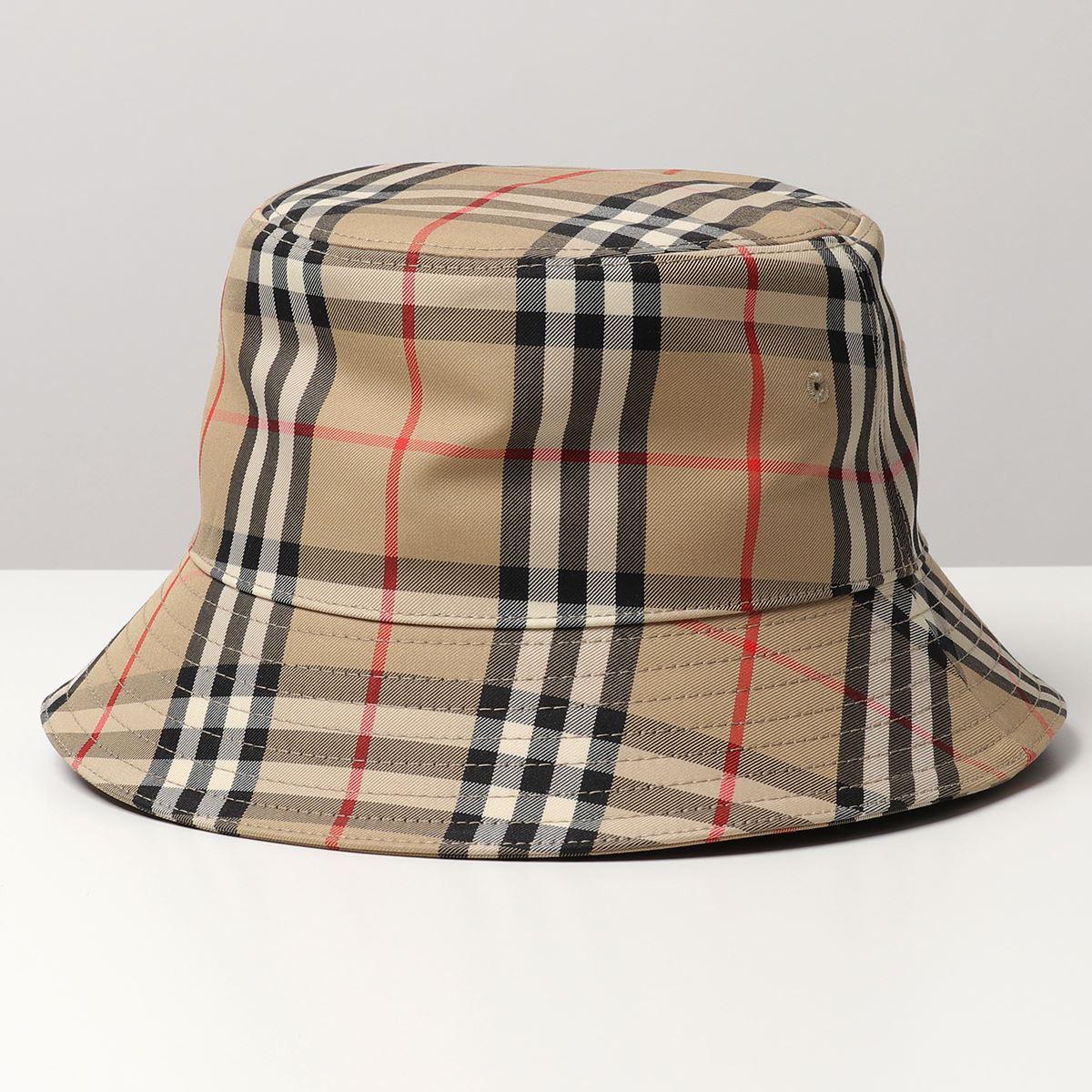 2021年春夏新作 BURBERRY バーバリー 8026927 MH 2 出荷 PANEL BUCKET A7026 メンズ HAT ヴィンテージチェック バケットハット まとめ買い特価 テクニカルコットン 帽子 ARCHIVE-BEIGE