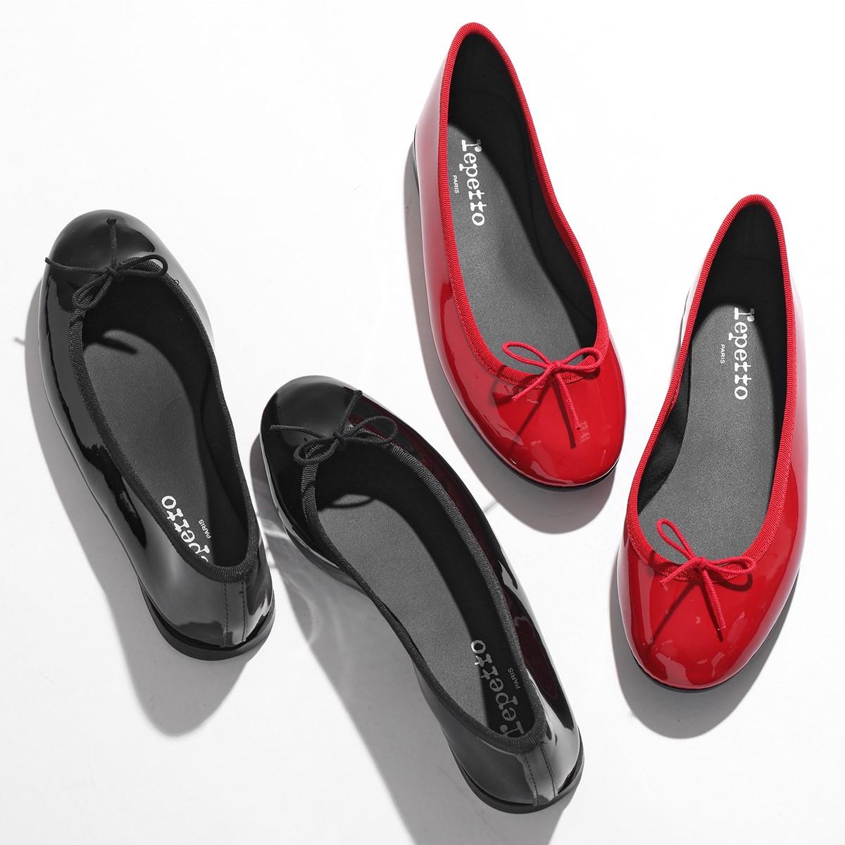 2021年秋冬新作 新品 送料無料 repetto レペット V1790VLUX NEW ARRIVAL LILI BALLELINA AD リリ パテントレザー レインシューズ バレエシューズ Noir ミティックゴムライン レディース 410 パンプス CP_15 靴