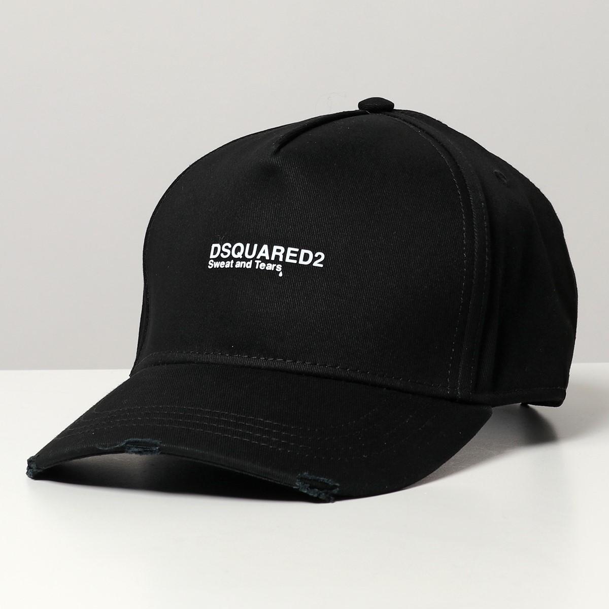 2021年春夏新作 DSQUARED2 ディースクエアード BCW0027 結婚祝い 祝日 05C00001 コットン ベースボールキャップ メンズ ロゴ M063 2021ss 帽子 ダメージ