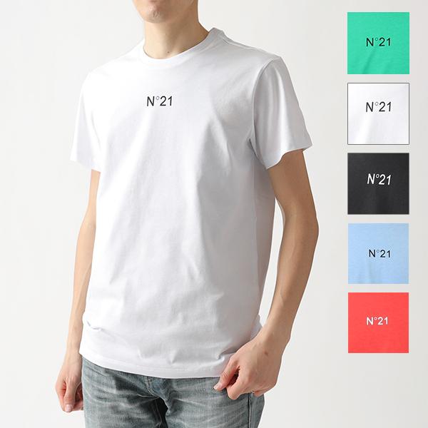 大きいサイズ有 お得 N°21 ヌメロヴェントゥーノ F026 6332 40%OFFの激安セール カラー5色 Tシャツ カットソー クルーネック ちびロゴT 半袖 メンズ