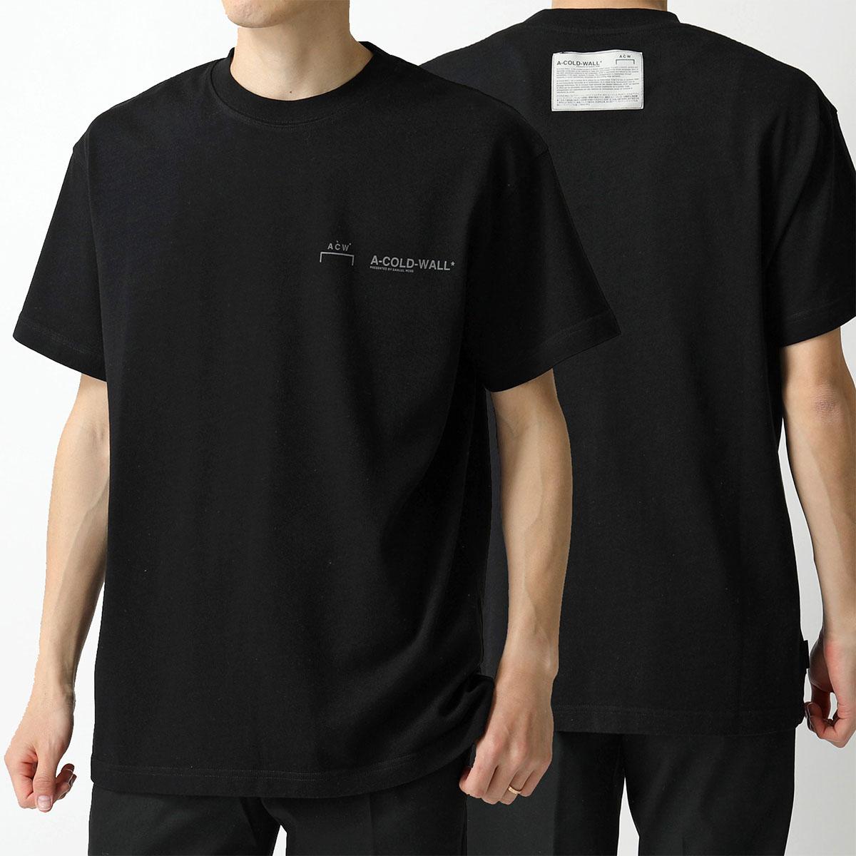 A-Cold-Wall* アコールドウォール MTS001WHL クルーネック 半袖Tシャツ カットソー BLACK メンズ