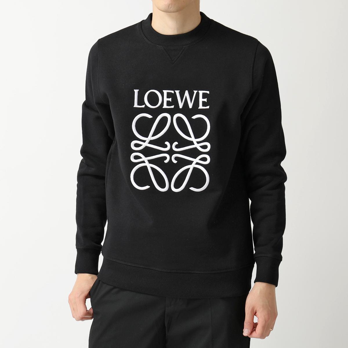 【エントリーでポイント4倍対象!24日23時59まで】LOEWE ロエベ H6109900CR 1100/BLACK ANAGRAM SWEAT クルーネック スウェットシャツ トレーナー アナグラムロゴ刺繍 メンズ