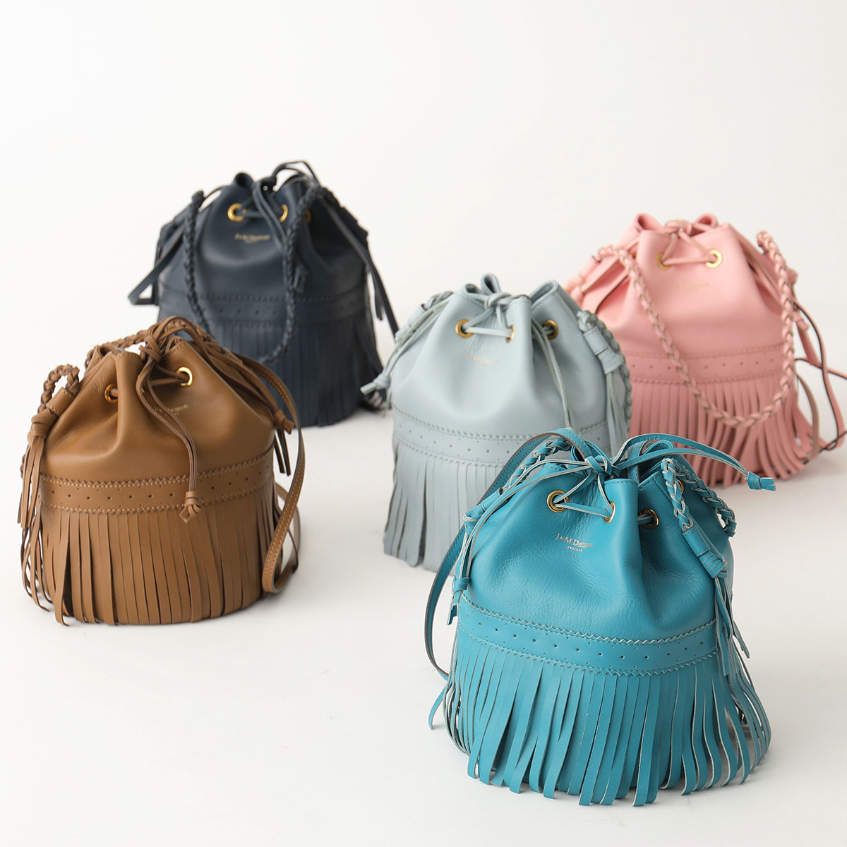 J&M DAVIDSON ジェイアンドエム デヴィッドソン 1355 7314 カラー5色 M CARNIVAL エム カーニバル フリンジ ショルダーバッグ 巾着バッグ 鞄 レディース