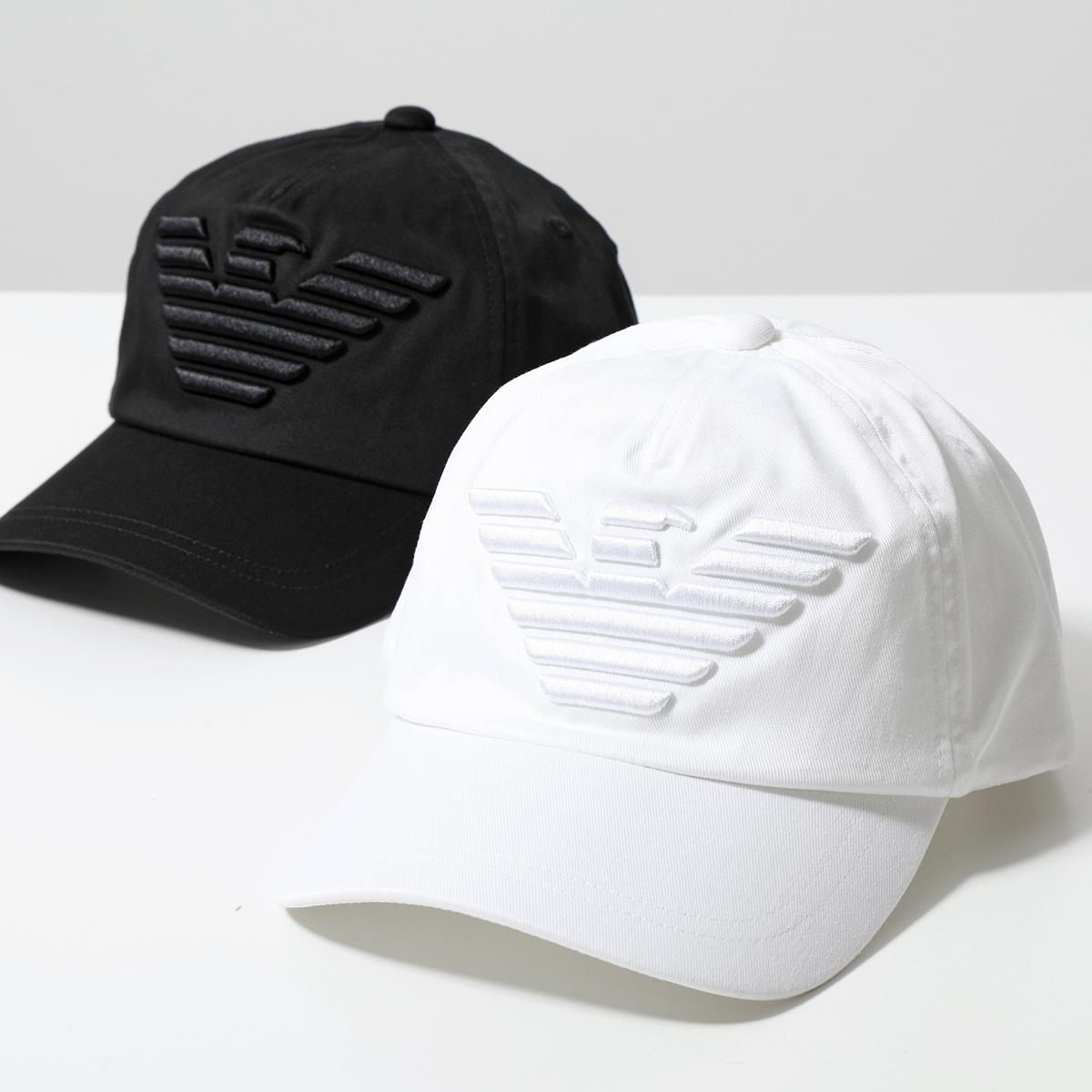 EMPORIO ARMANI エンポリオアルマーニ 627522 CC995 希望者のみラッピング無料 ランキング総合1位 00010 ベースボールキャップ イーグル立体刺繍 コットン メンズ WHITE 帽子