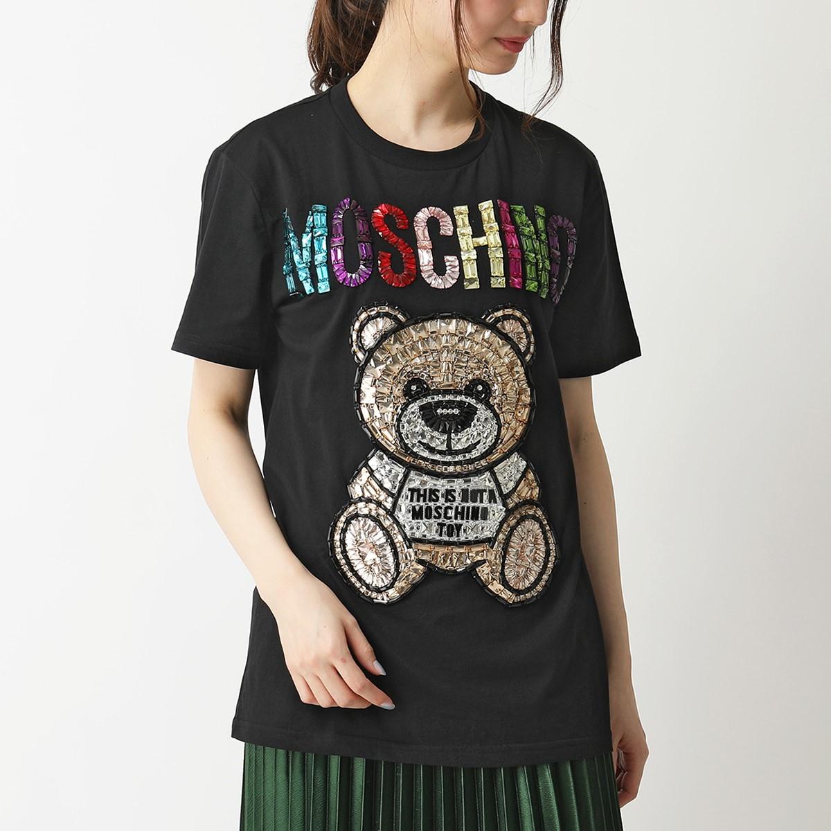 激安通販の MOSCHINO モスキーノ V0718 0240 半袖Tシャツ 半袖Tシャツ カットソー レジンストーン 0240 テディベア 2555 カットソー ユニセックス, 和の装い:5cdc3896 --- kventurepartners.sakura.ne.jp