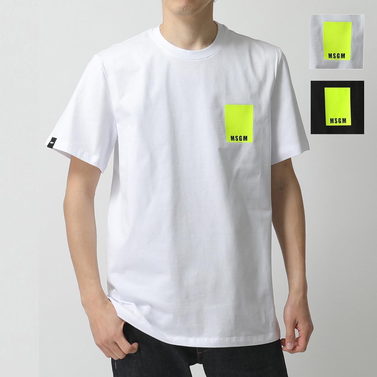 MSGM エムエスジーエム 2840 MM233 カラー2色 半袖 Tシャツ カットソー クルーネック ちびロゴ メンズ