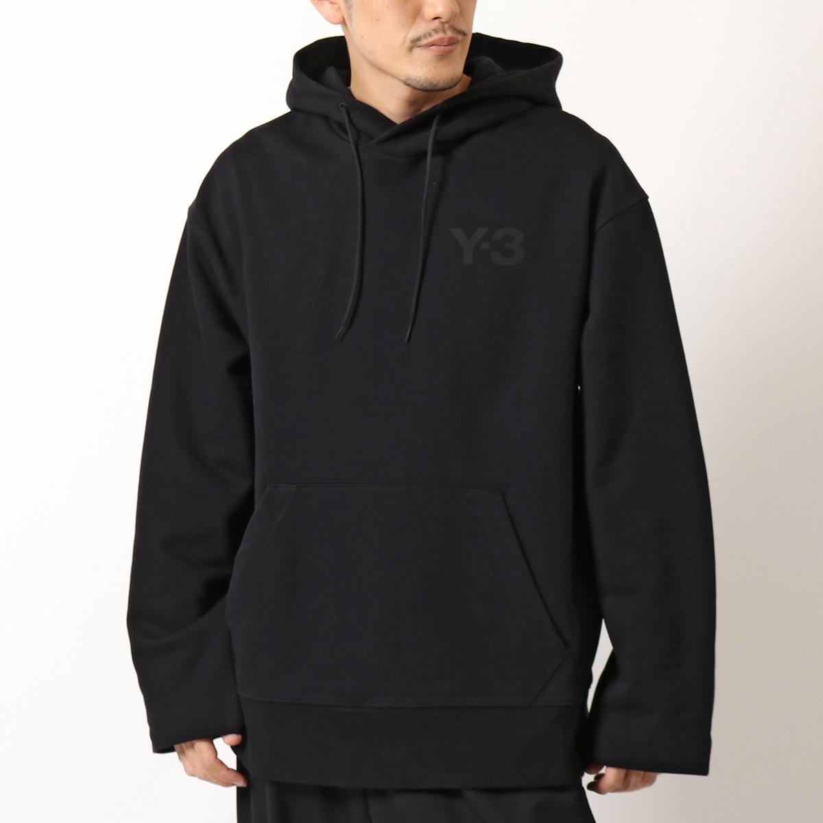 Y-3 ワイスリー adidas アディダス YOHJI YAMAMOTO FN3379 スウェット トレーナー プルオーバー パーカー ロゴ コットン BLACK メンズ