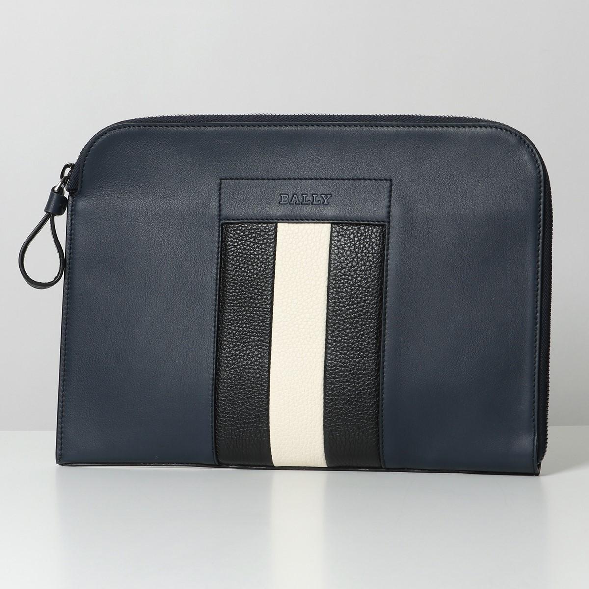 BALLY バリー BAIGH レザー クラッチバッグ ドキュメントケース 鞄 57/DARKNAVY14 メンズ