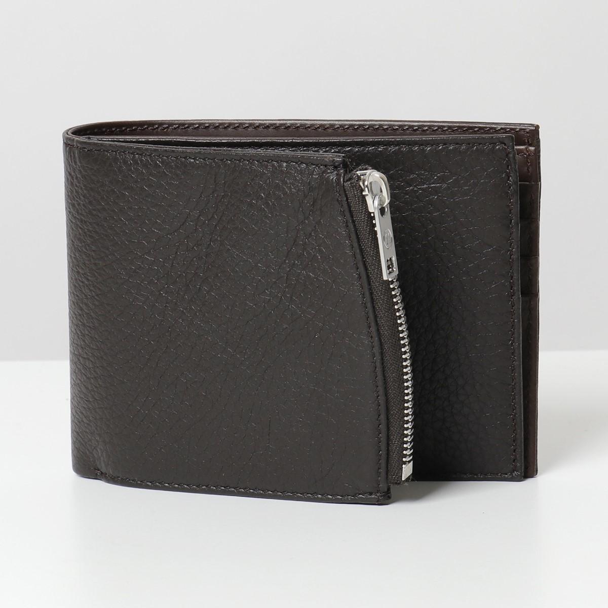 MAISON MARGIELA メゾンマルジェラ 11 S35UI0436 P2686 レザー 二つ折り財布 スモール財布 小銭入れ付き T2154 メンズ