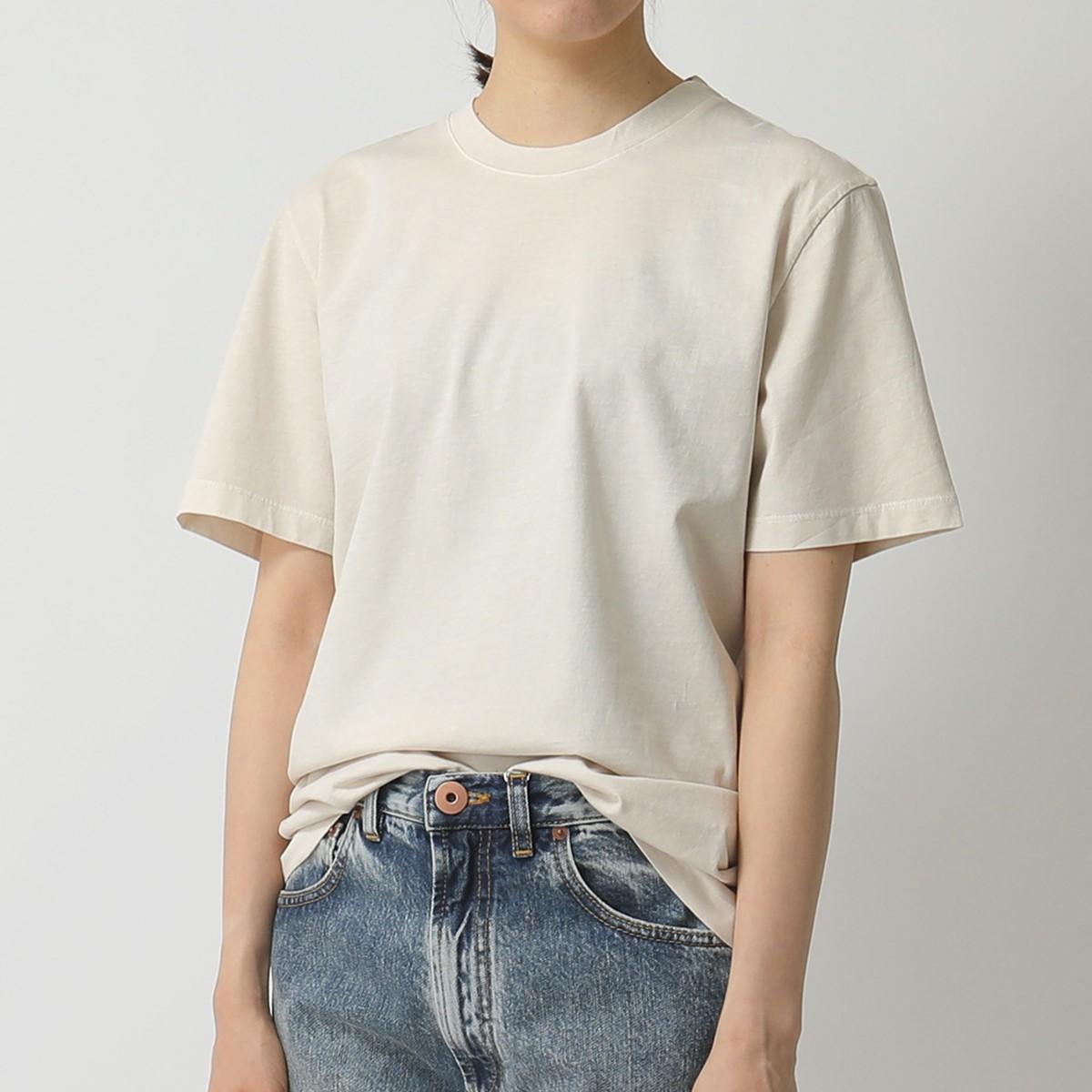 MAISON MARGIELA メゾンマルジェラ 10 S50GC0608 S23616【1枚単品】 Stereotype クルーネック 半袖 Tシャツ カットソー 962/アイボリー レディース