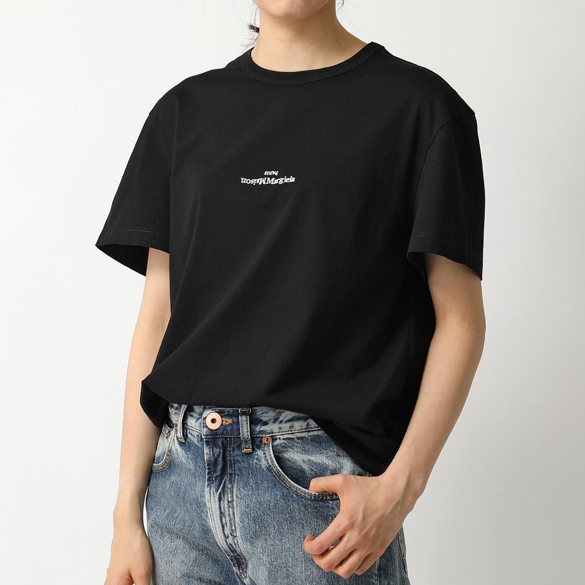 MAISON MARGIELA メゾンマルジェラ 10 S30GC0701 S22816 ディストーテッド ロゴ 半袖 Tシャツ カットソー クルーネック 丸首 900 レディース